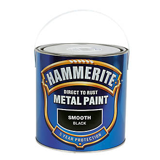 Hammerite Smooth Metal Paint Black 2 5ltr Metal Paints Screwfix Com