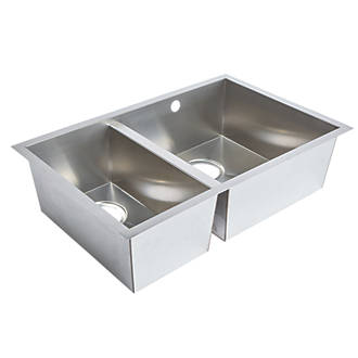 Undermount Kitchen Sink Stainless Steel 2 Bowl 692 X 450mm Sinks Fix