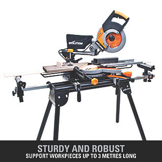 Slide Miter Saw Stand with 2 Height Adjustable Rollers and 2 Table Extensions