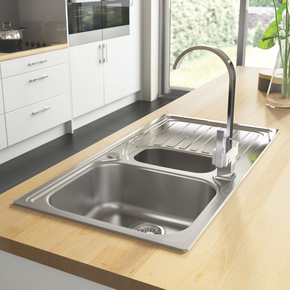 Astracast Alto Kitchen Sink Stainless Steel   X Mm Sinks Screwfix Com