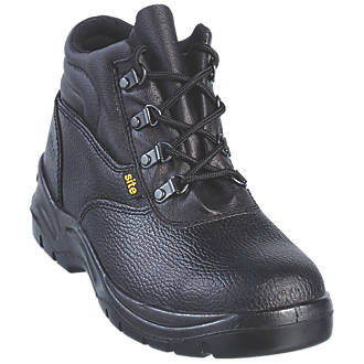 c350ff436d3 Site Slate Safety Boots Black Size 12