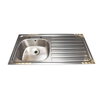 Franke Inset Kitchen Sink Stainless Steel 1 Bowl 1015 X 200mm Sinks Screwfix Com