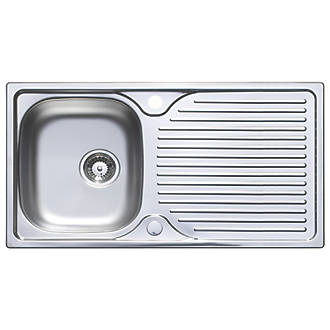 Astracast Horizon Stainless Steel Sink Tap Pack 1 Bowl 965 X 500mm Kitchen Packs Fix