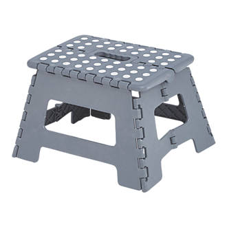Fantastic Polypropylene 1 Step Folding Stool 220Mm Grey Creativecarmelina Interior Chair Design Creativecarmelinacom