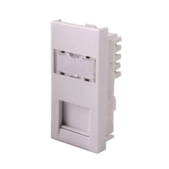 Lap cat 6 rj45 grid module white modules screwfix cheapraybanclubmaster Choice Image