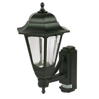 Asd black bc pir coach lantern wall light pir security lights asd black bc pir coach lantern wall light pir security lights screwfix aloadofball Image collections