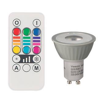 Diall Gu10 Colour Changing Led Light Bulb 45lm 32w Light Bulbs