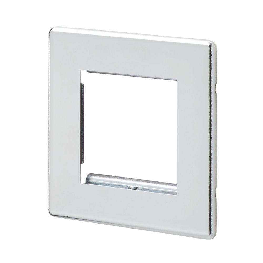 Mk Aspect 2 Gang Light Switch Surround Polished Chrome Modular Faceplate Screwfix Com