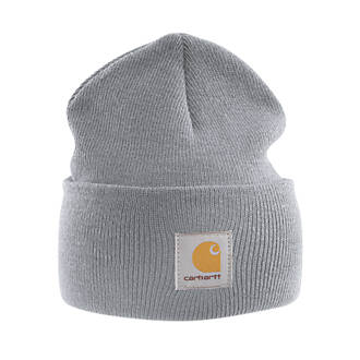 62ee48107da9b Carhartt A18 Beanie Hat Heather Grey (5220F)