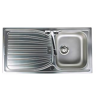 Astounding Astracast Alto Kitchen Sink Stainless Steel 1 Bowl 980 X 510Mm Download Free Architecture Designs Scobabritishbridgeorg