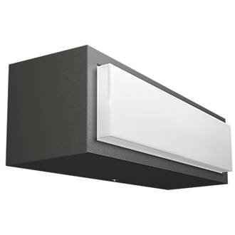 Philips stratosphere graphite outdoor wall light 500lm 45w philips stratosphere graphite outdoor wall light 500lm 45w outdoor wall lights screwfix aloadofball Image collections