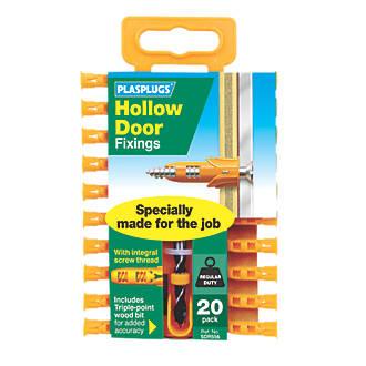 Plasplugs Hollow Door Fixings 6 X 20 Pack