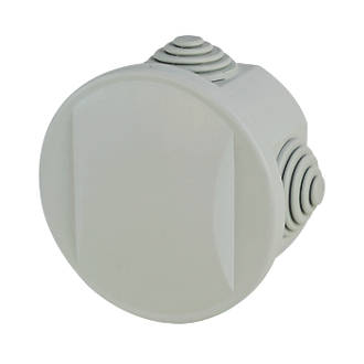 Schneider Electric Round 4-Terminal Junction Box with Knockouts Grey 65mm