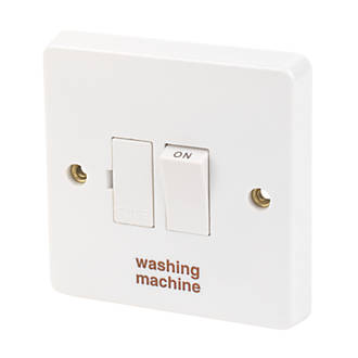 Crabtree Capital 13a Switched Washing Machine Fused Spur White With Colour Matched Inserts Fused Spurs Screwfix Com