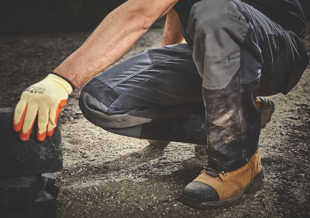 Site Ridgeback Trousers Black Grey 40 W 32 L Work Trousers Screwfix Com