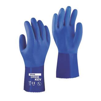 Towa OR656KEV PVC Gauntlet Blue Medium