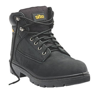 fe54155d3b9 Site Marble Safety Boots Black Size 10