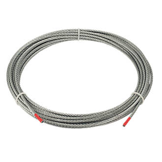 wire rope grey 4mm x 10m wire rope accessories screwfix com