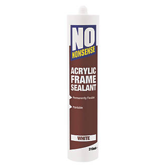 No Nonsense Acrylic Frame Sealant White 310ml 57529