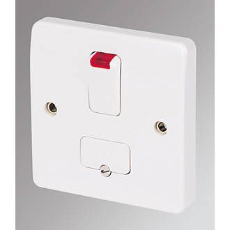 Mk Logic Plus 13a Switched Fused Spur Flex Outlet With Neon White With Colour Matched Inserts Fused Spurs Screwfix Com