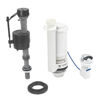 push button toilet cistern parts. Fluidmaster Bottom Entry Button Cable Dual Flush  Inlet Fill Valves Screwfix com