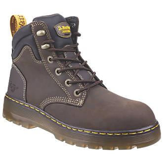 myydään maailmanlaajuisesti uusi aito kauneus Dr Martens Brace Safety Boots Brown Size 7