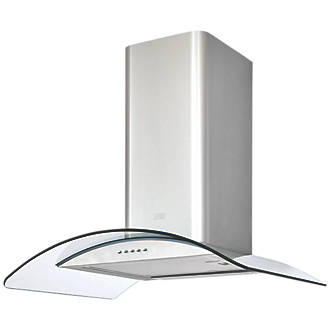 Cooke Lewis Clcgs60 Curved Glass Hood Stainless Steel 600mm