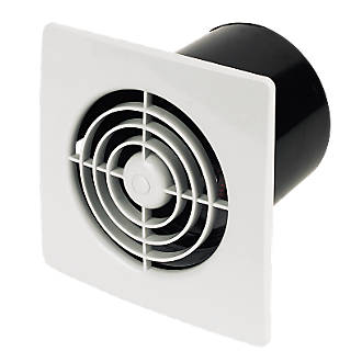Manrose Lp100st 15w Bathroom Extractor Fan With Timer White 240v Bathroom Extractor Fans Screwfix Com
