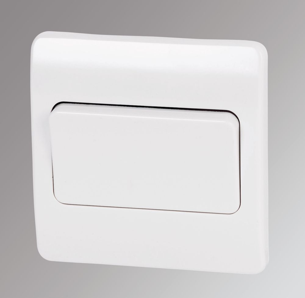 Mk 1 Gang 2 Way 10ax Light Switch With Wide Rocker White Switches