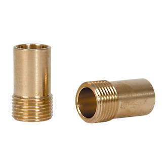 Brass Compression Adapting Flexible Tap Connectors 15mm x 3/8