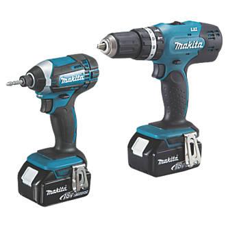 Makita DLX2142SM 18V 4 0Ah Li-Ion LXT Cordless Combi Drill & Impact Driver  Twin Pack