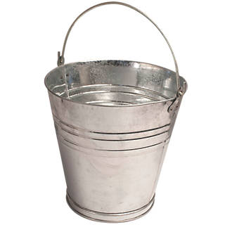 active galvanised steel bucket 13ltr buckets screwfix com
