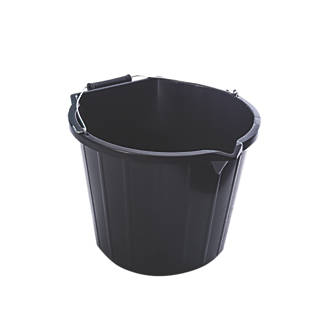 Plastic Pour Scoop Buckets 14ltr 3 Pack Buckets Screwfix Com