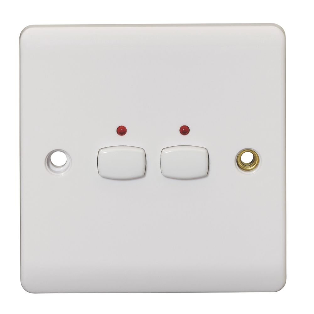 Energenie 2 Gang 2 Way 1a Smart On Off Light Switch White Switches Screwfix Com