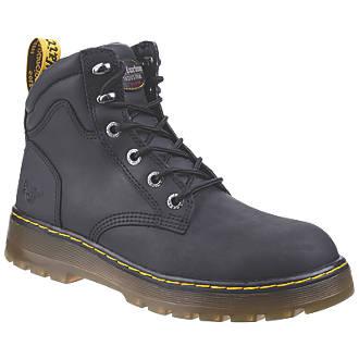myyntipiste myynnissä maksaa viehätysvoimaa tehtaanmyymälä Dr Martens Brace Safety Boots Black Size 9