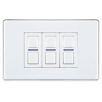 Lightwave 3 Gang 2 Way Led Smart Dimmer Switch White Switches Sockets Screwfix Com