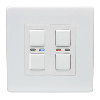 Lightwave 2 Gang Way Led Generation 1 Dimmer Switch White Switches Sockets Fix