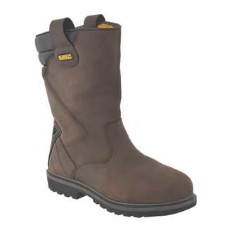ca00ee6c8cc DeWalt Rigger 2 Safety Rigger Boots Brown Size 10