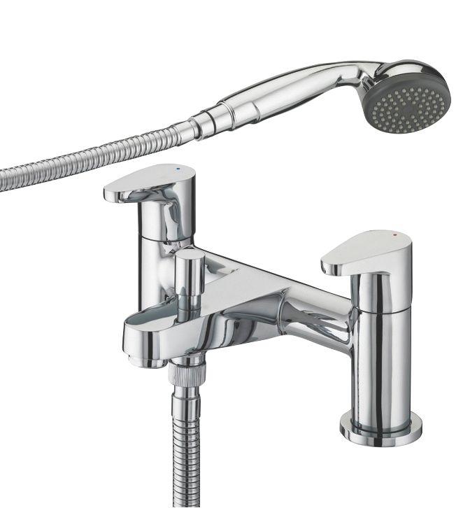 Bath And Shower Taps bristan quest surface-mounted bath / shower mixer tap | bath taps