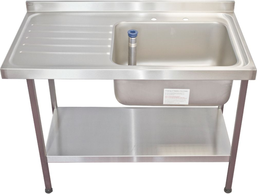 franke midi catering sink stainless steel 1 bowl 1200 x 650mm