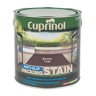 Cuprinol Anti Slip Decking Stain Boston Teak 2 5ltr Decking Paint Screwfix Com
