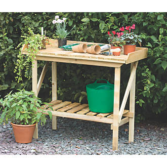 Forest Larchlap Softwood Potting Bench 920 X 520 1080mm Grow Houses Fix
