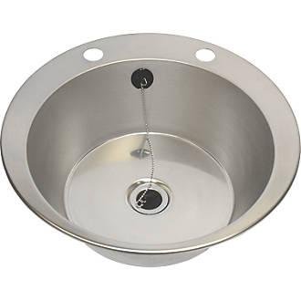 Franke Inset Washbasin Stainless Steel 1 Bowl 447 X 130mm Sinks Screwfix Com
