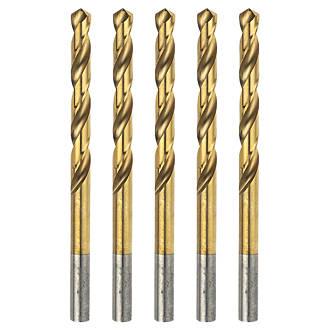 5mm Drill Bit >> Erbauer Ground Hss Drill Bits 5 X 86mm 5 Pack