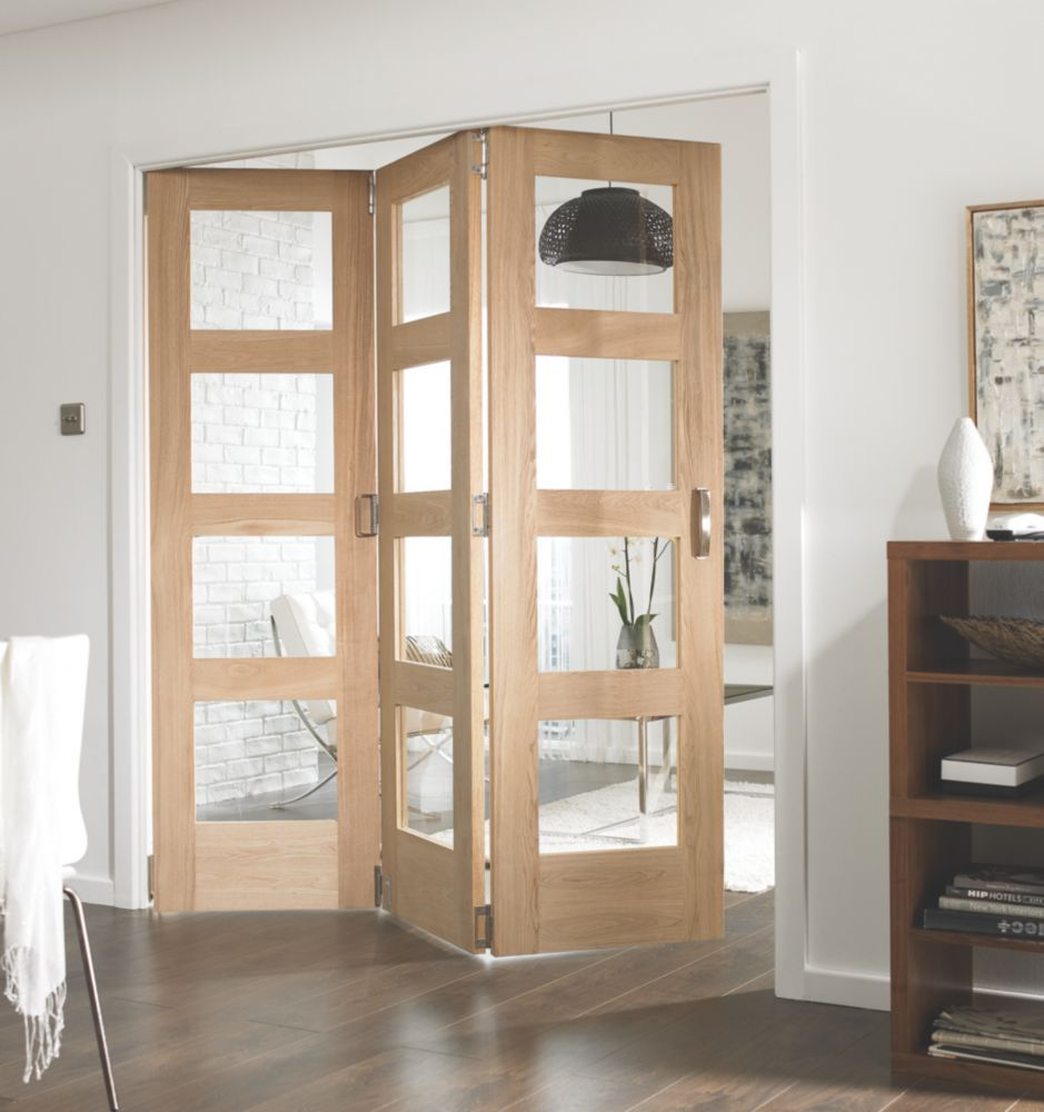 Jeld Wen Divider Glazed 3 Door Interior Room Divider Unfinished 2052
