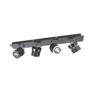 online retailer f61a3 947cd Inlight 4-Light Bar Spotlight Black Chrome 240V