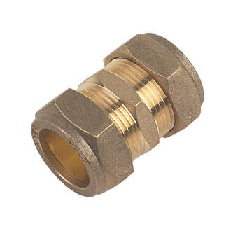 Bag of 5 22mm Brass Compression Repair Coupling