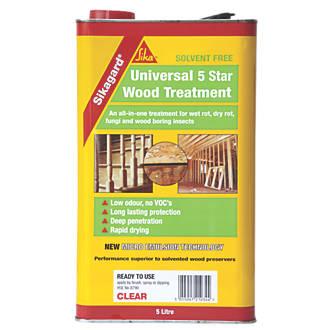 Sika Sikagard Universal 5 Star Wood Treatment Clear 5Ltr