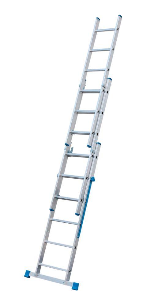 Ts Aluminium vhr ts aluminium combination ladder 3 x 6 rungs 3 8m combination