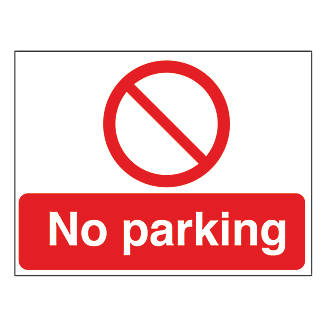 No Parking Sign Stanchion Frame 450 X 600mm 2 Pieces No Parking